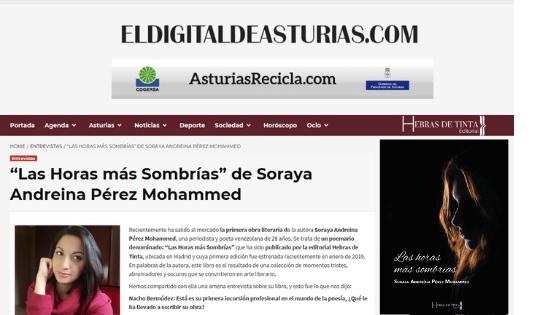 EL DIGITAL DE ASTURIAS. Soraya A. Pérez Mohammed