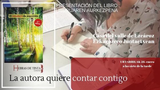 EL SENDERO DE UNA VIDA. 2ª Edición. PRESENTACIÓN EN NAVARRA