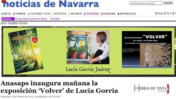 NOTICIAS DE NAVARRA. Lucía Gorría Juárez en la 3ª edición