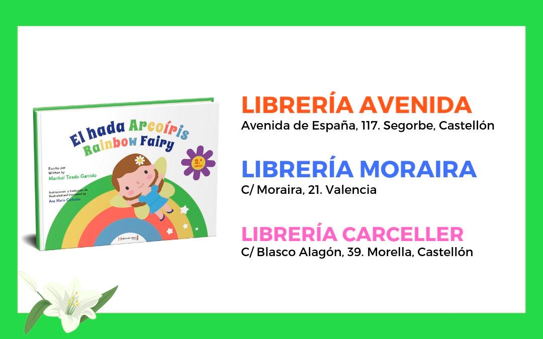 Librería Moraira, Librería Avenida y Librería Carceller (Comunidad Valenciana)