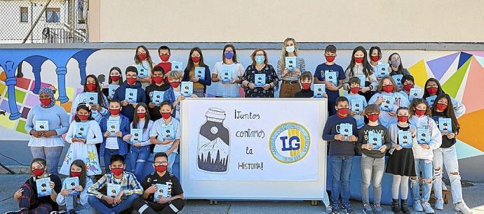 La antología escolar «¡Juntos contamos la historia!» en Noticias de Navarra
